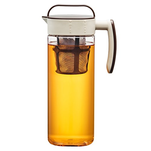 Komax Tritan Clear Large (2.1 quart)  Iced Tea Maker with Airtight Lid Twist & Pour -  BPA-Free Pitcher