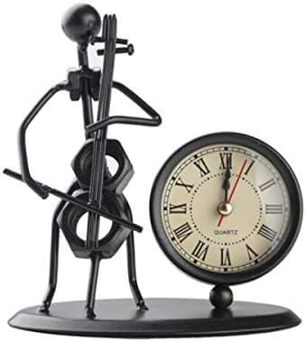 KEHUITONG 時計の装飾、ヨーロッパの錬鉄、自転車ファッションのシンプルな装飾、サイレントクロック錬鉄の装飾時計 (Color : A)