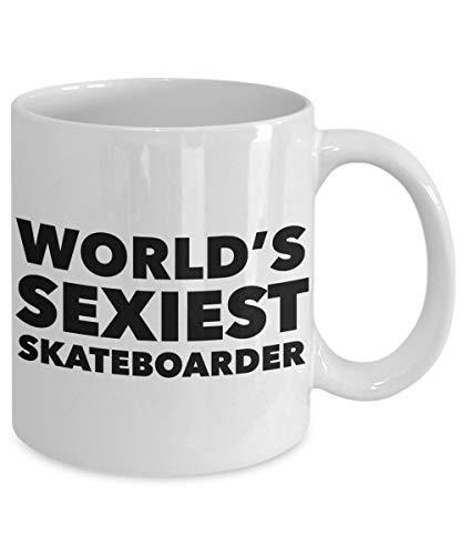 Skateboarder Gift Skateboard Gift Idea Worlds Sexiest Skateboarder Mug Ceramic Skateboarding Coffee Cup Skateboarding Mugs Skateboard Gifts ()
