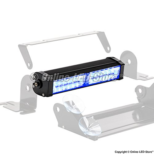 LAMPHUS CosmicRay CRLS28 16W Linear LED Emergency Strobe Warning Deck Light Bar - Blue