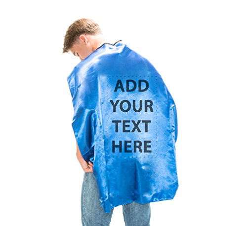 Reversible Adult Blue and Blue Superhero Custom Personalized Costume Cape -