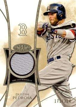 2014 Topps Tier One Relics #TOR-DPD Dustin Pedroia Game Worn Jersey Baseball Card - Only 254 (Game Used Jersey Cards)