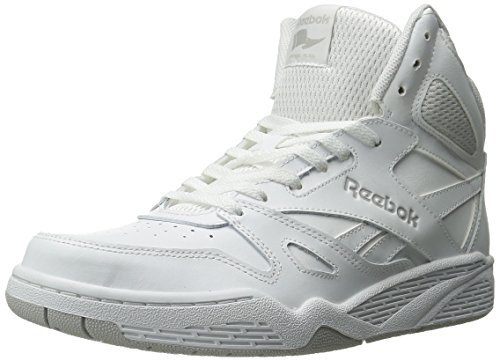 Reebok Men's Royal Bb4500 Hi Fashion Sneaker, White/Steel, 12 M US (Hi Top Tennis Shoes)