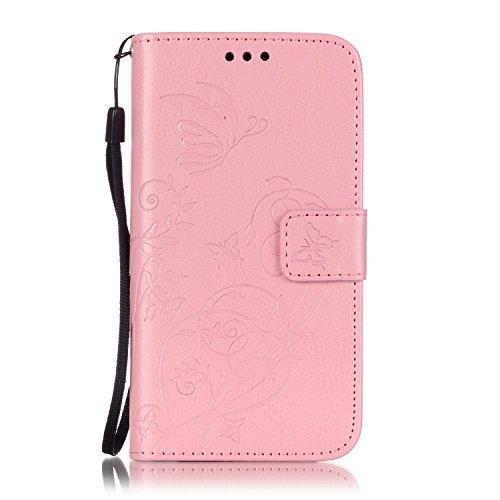 JIALUN-Personality teléfono shell SAMSUNG Galaxy J210 estuche, caja de cuero de la PU Premium estuche de estampado magnético, carcasa de color sólido para SAMSUNG J210 2016 Seguridad y Moda ( Color :  Pink