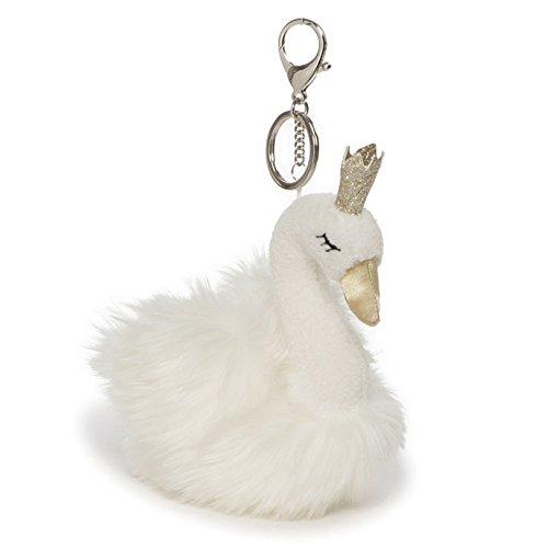 Baby Plush Keychain - GUND Swan Princess Plush with Glittering Crown Stuffed Plush Keychain, White, 6.5