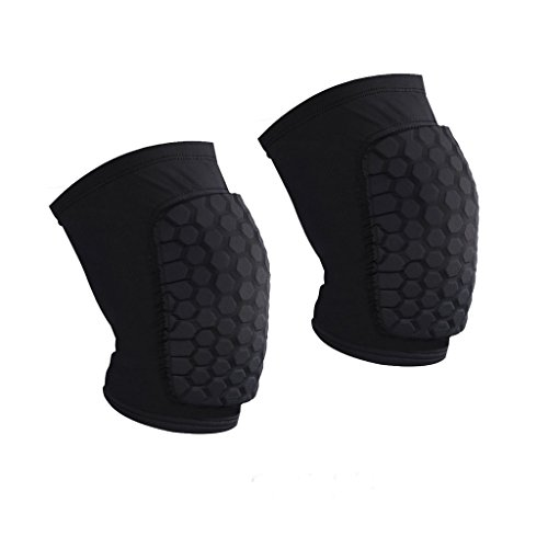 AceList 2 Packs (1 Pair) Protective Compression Wear - Mens Wrestling Knee Pads