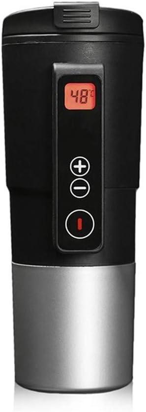 YVX Taza Termo Botella Termo Inteligente para Coche Taza de Calentamiento automático Temperatura Ajustable Taza de ebullición Pantalla Digital Hervidor Termo para vehículos