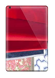 Ipad Mini/mini 2 Case Cover - Slim Fit pc Protector Shock Absorbent Case (contemporary Red Roman Shade With Blue 038 White Wall In Boy8217s Bedroom)