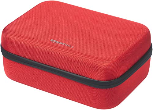 AmazonBasics Hard Shell Travel and Storage Case for Nintendo Switch - 12 x 4.8 x 9 Inches, Red