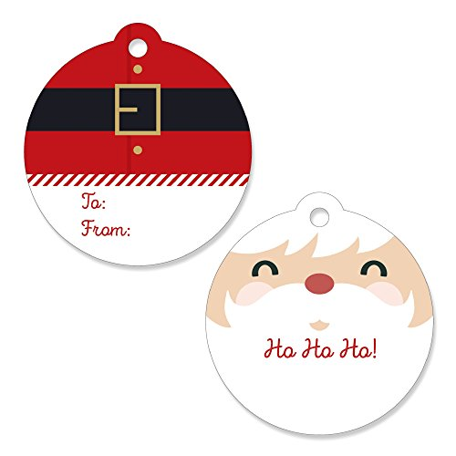 Jolly Santa Claus - Christmas Party Favor Gift Tags (Set of ()