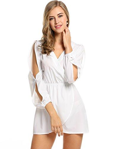 Buy belted chiffon shirt dress - 9