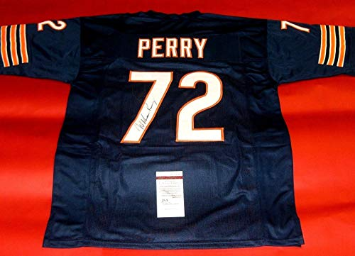 - WILLIAM PERRY AUTOGRAPHED CHICAGO BEARS JERSEY JSA THE REFRIGERATOR