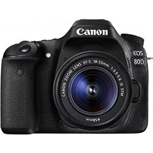 Canon EOS 80D Lens Kit - 24.2 MP, SLR Camera, 18 - 55mm IS STM, Black