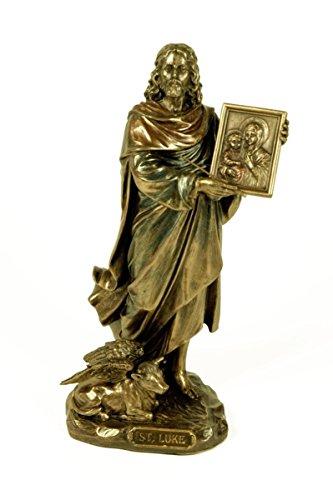 CAPRILO Figura Decorativa Religiosa San Lucas. Figuras Resina. 11 x 9 x 22 cm.