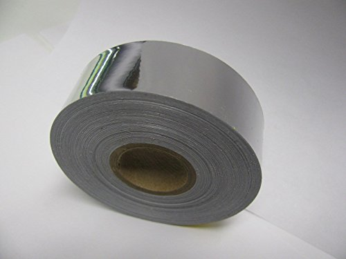 Colored Chrome Tape Plastic Vinyl, Self-Adhesive (1.5 inch x 50 ft, Silver) (Plastic Tape Vinyl)