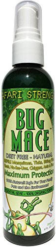 BugMace All Natural Mosquito & Insect Repellent Bug Spray, Repels Insects, Bugs and Mosquitoes. Certified Organic, Long Lasting, DEET FREE and 100% Safe for Babies, Children and Adults.4oz