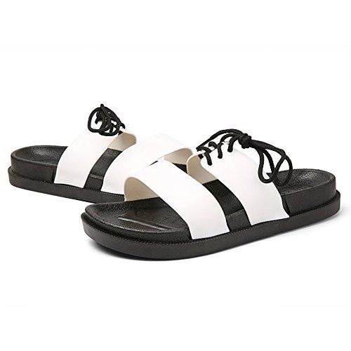 Scarpe da Cricket Pantofole Stile Donna Casual da Resistenti da Bianca e e Nuovi Britannico Antiscivolo Uomo all'Usura Antiscivolo Sandali FwwdqZ