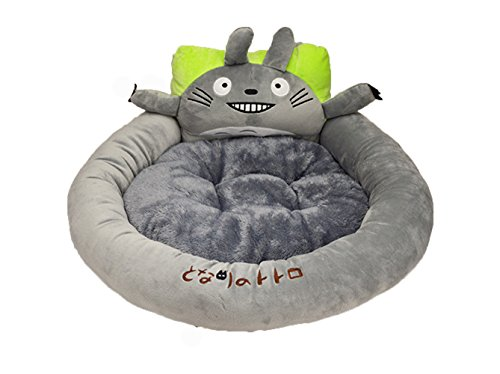 Alkem Grey Cartoon My Neighbor Totoro Pet Cat Dog Round Beds