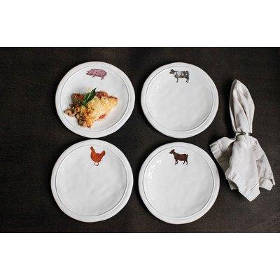 "8"" Farm Animal Dolomite Plate 4 Piece Set (Set of 4)"