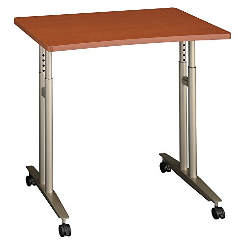- Bush Business Furniture Series C Collection 36W Adjustable Height Mobile Table in Auburn Maple