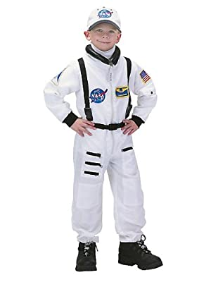 Aeromax Jr Astronaut Suit With Embroidered Cap White