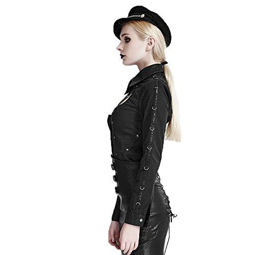 Punk Rave Damen Bluse, Durchgehend