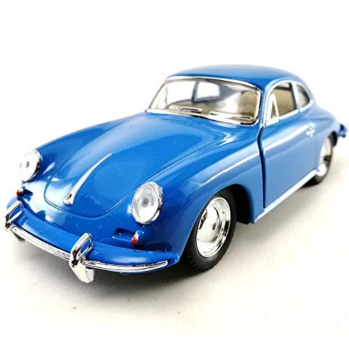 KiNSMART 1962 Porsche 356 B Carrera 2 Blue Color 1:32 Die-Cast Model Toy Car Collectible Hobby Classic Car Collection