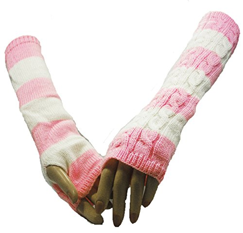 Pink Double Shade of Dream Arm Warmer Gloves
