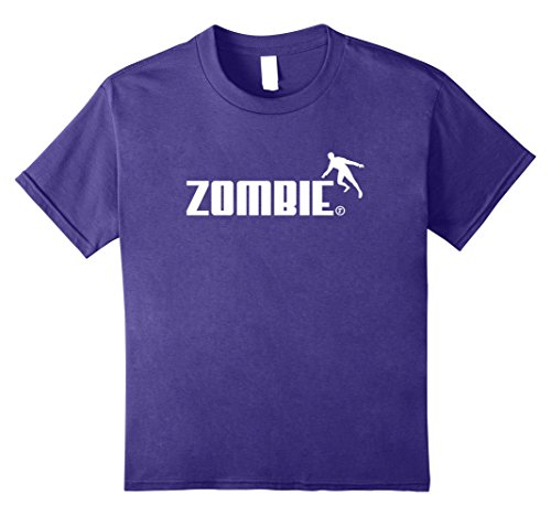 Kids Zombie! Funny Ghoul Logo, Halloween Gift T-Shirt 12 Purple (Halloween Fright Nights Logo)