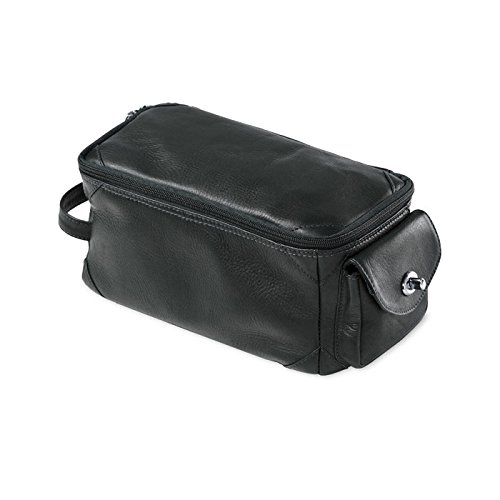 - Clava 103, Leather Turnlock Pocket Travel and Accessory Case, Oversized