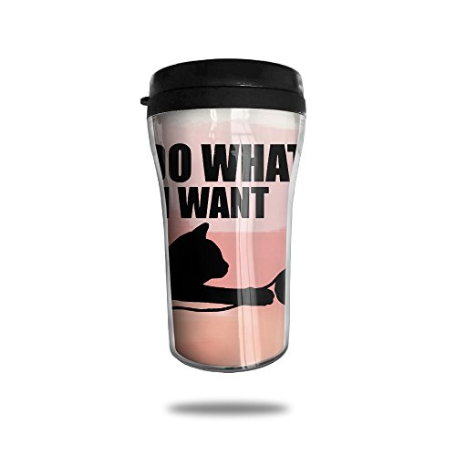 I Do What I Want Lovely Cat With Boll Wall Insulated Seal Shake Tumbler Cup For Hot Or Cold (Party City Columbus Oh)