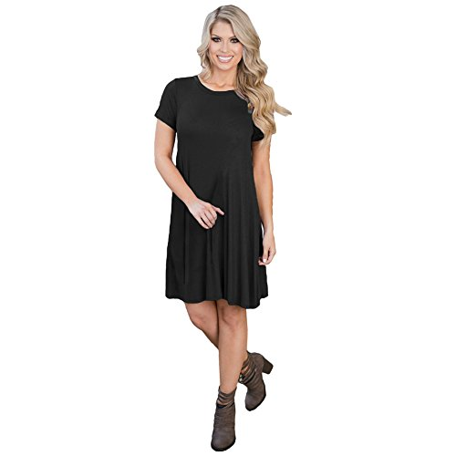 Romacci Womens Short Sleeve T-Shirt Dress Cotton Loose Casual Tunic Dress S-XL at Amazon Womens Clothing store:
