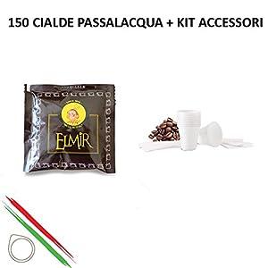 CAFFÈ PASSALACQUA ELMIR - GUSTO PIENO - 150 CIALDE ESE44 da 7.3g + KIT ACCESSORI NEUTRO