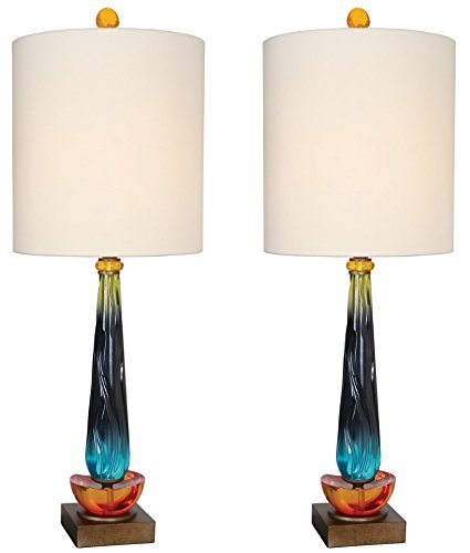 Berry Linen Shade - Van Teal 540472PR Table Lamps (Set of 2), Multicolor, 2
