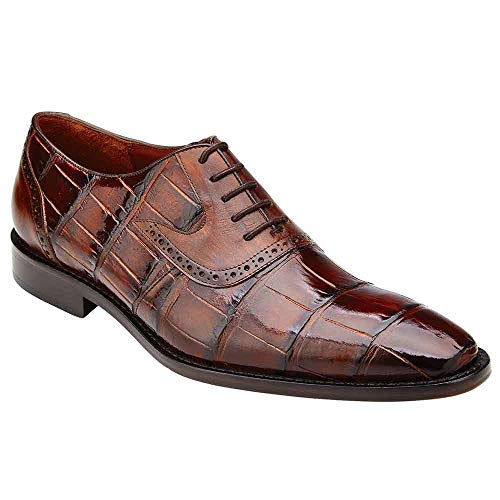 Belvedere Walter Tobacco Genuine Alligator and Italian Calf Men's Lace Up Shoes