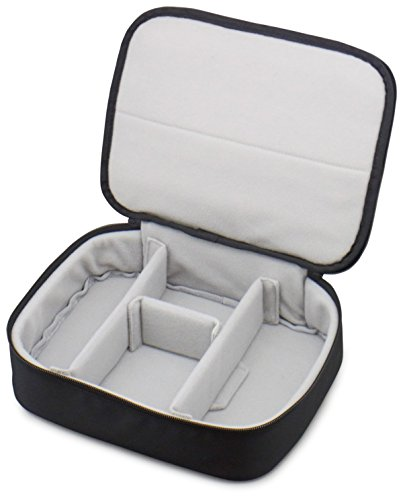 NEXARY Gadget Case Pouch / High volumes, Wildly / Protect Kindly! Your Electronic Accessories! Such as Your USB Cable and Equipment of Cell phone, Tablet, the PC are in this soft case ALL IN! Black