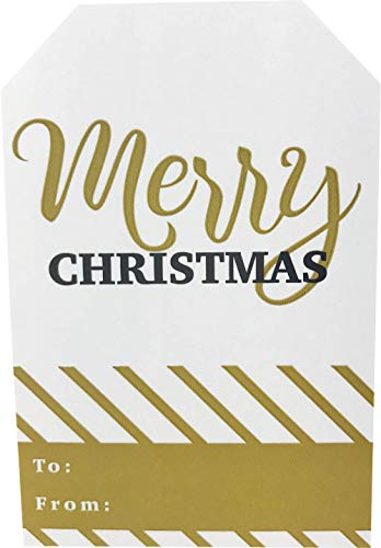 Christmas Gift Tags Holiday Present Stickers Merry & Bright 4 Different Designs 2 x 3 Inch 100 Total Labels Photo #4