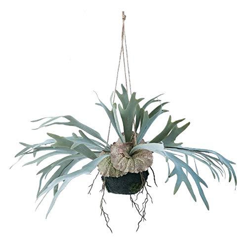 人工観葉植物 ビカクシダハンキングボール46(4個セット) bb170 吊るしタイプ (代引き不可) インテリアグリーン 造花 HANGING B07SXFLQBF