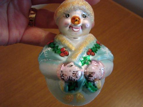 Christopher Radko Glass Jolly Wrap Junior Snowman Box - Jolly Wrap