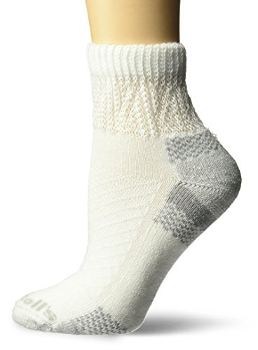 Dr. Scholl's Women's Advanced Relief 2-pair Ankle Socks, white, Shoe Size: 4-10