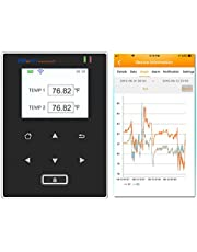 Elitech RCW-600 WiFi Temperature Data Logger Remote Wireless Temperature Recorder with 2 External Temperature Sensor Probes. Free 24/7 Monitoring, Alerts & Historical Data. Free iPhone/Android Apps!