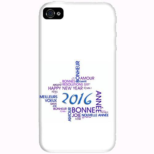 Coque Apple Iphone 4-4s - Bonne année 2016