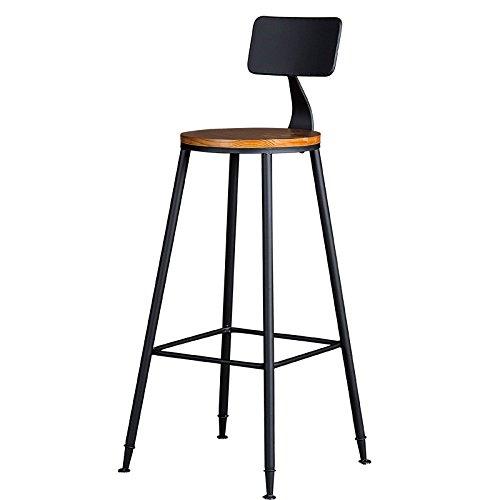 ANDEa Taburete de bar retro, barra de hierro Set de mesa de silla ...