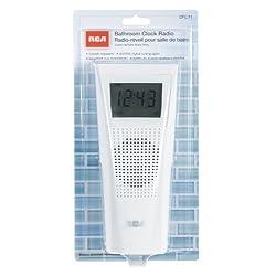 RCA BRC11 AM/FM Bathroom Clock Radio