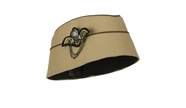 338e3d97c04 Ladies Airline Stewardess WWII Military Style Fashion Hat w  Pin BEIGE   Amazon.ca  Clothing   Accessories