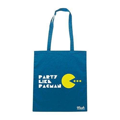 Borsa Party Like Pac Man - Blu Royal - Games by Mush Dress Your Style