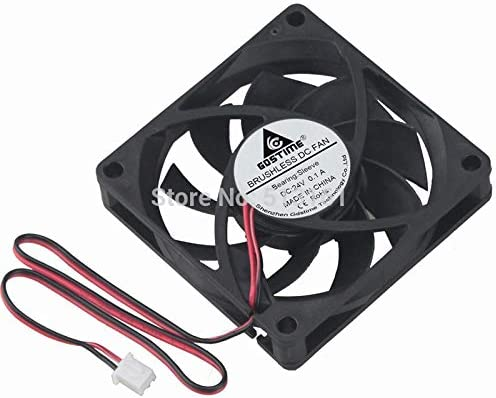 2pcs//lot Gdstime 24V 2Pin 70mm 7015S Axial Cooling Fan 70mm X 70mm x 15mm 70mm