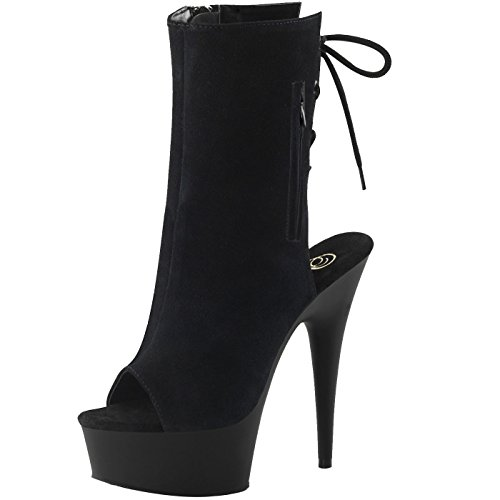 Pleaser - Sexier Than Ever Plateau Peeptoe Sling Stiefel DELIGHT-1018