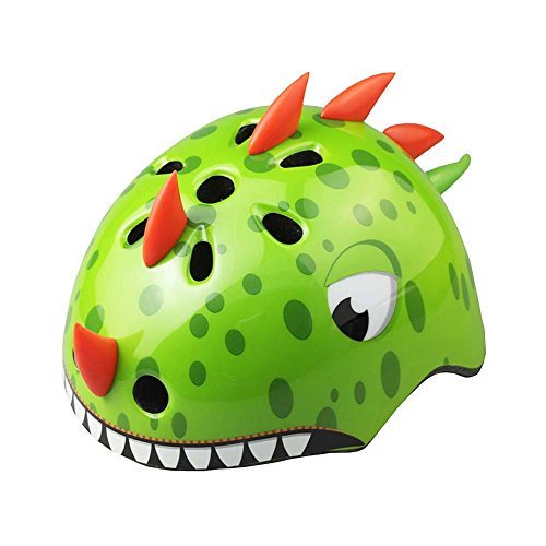 AMUR LEOPARD Green Dinosaurs Kids Helmets Children's Multi-Sport Safety Bike Helmets Cycling Skating Scooter for Girls / Boys for cheap
