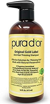 Pura DOr Original gold label anti-adelgazamiento champú ...